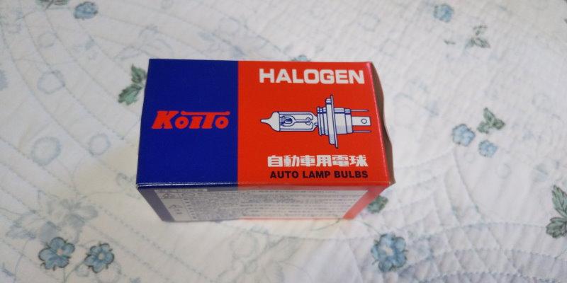 小糸製作所のH4ハロゲンバルブ箱
